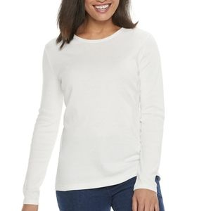 EUC Croft & Barrow Long Sleeve Cotton Tee